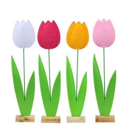 Filzblume Tulpe H68cm Verschiedene Farben