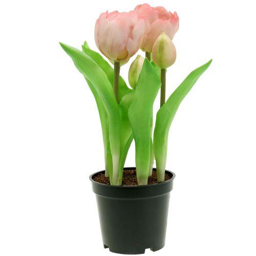 Tulpe im Topf Rosè Real-Touch 22,5cm