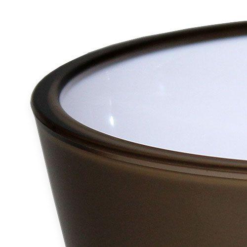 "Vase ""Fizzy"" Platingrau Ø13,5cm bis ca. Ø28,5cm, 1St"
