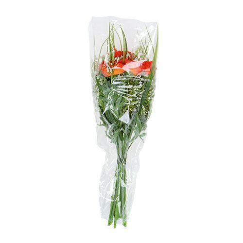 Blumentopf in folie einpacken
