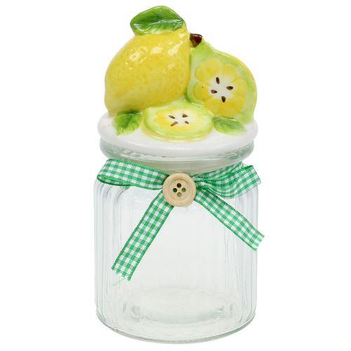 Vorratsglas mit Deckel Zitrone 15,5cm