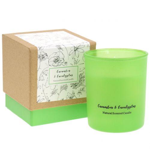 Duftkerze im Glas Gurke-Eukalyptus Ø7cm