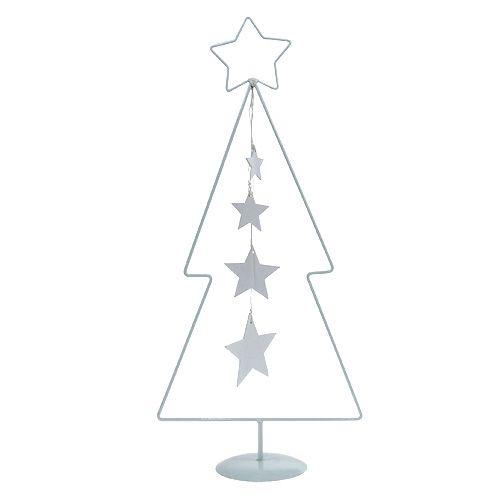 Weihnachtsbaum Metall.Weihnachtsbaum Metall Weiß H53 5cm
