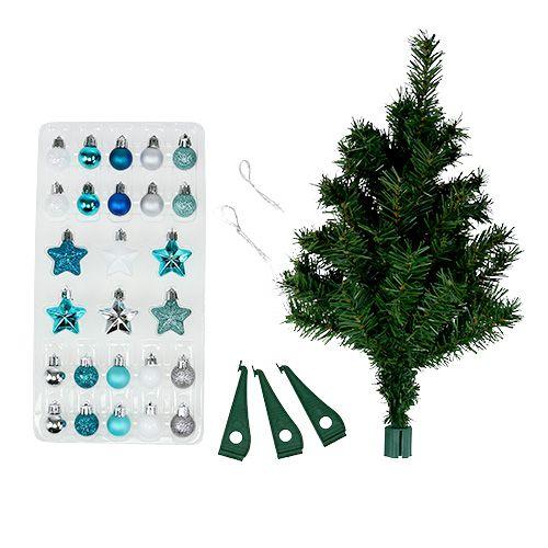 Weihnachtsdeko mini baum blau sort 40cm kaufen in schweiz for Weihnachtsdeko baum