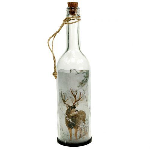 Weihnachtsdeko Flasche mit Beleuchtung 30cm