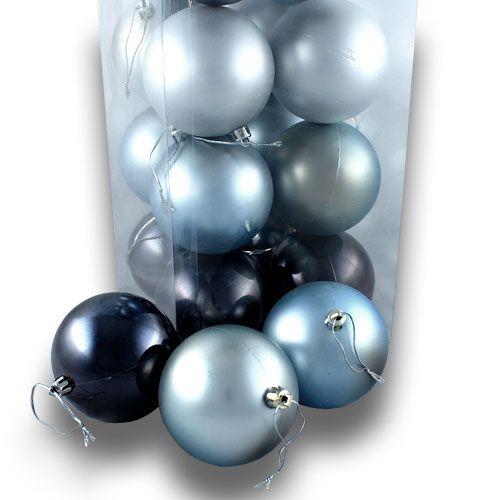 weihnachtskugel plastik 8cm strahlblau 20st kaufen in schweiz. Black Bedroom Furniture Sets. Home Design Ideas