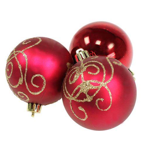 weihnachtskugel plastik rubin 70mm 8st kaufen in schweiz. Black Bedroom Furniture Sets. Home Design Ideas