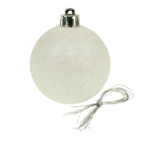 weihnachtskugeln plastik wei perlmutt 6cm 10st kaufen in schweiz. Black Bedroom Furniture Sets. Home Design Ideas