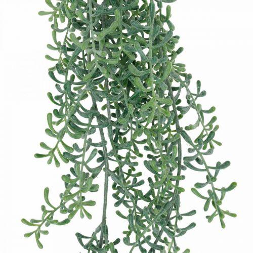 Grünpflanze hängend künstlich Hängepflanze mit Knospen Grün, Weiß 100cm