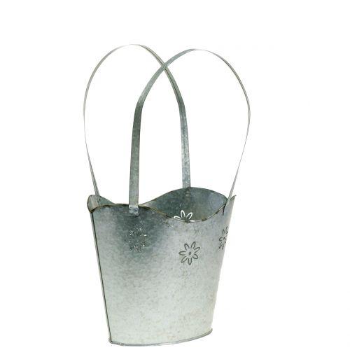 Pflanzgefäß Tasche aus Zink H25,5cm