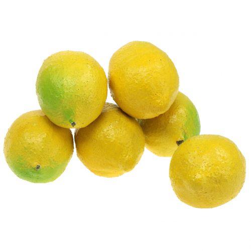 Deko Zitronen 10cm  6St