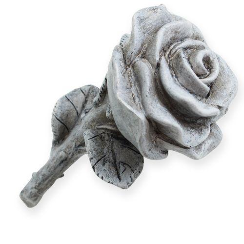 deko rosen grau 13cm 3st kaufen in schweiz. Black Bedroom Furniture Sets. Home Design Ideas