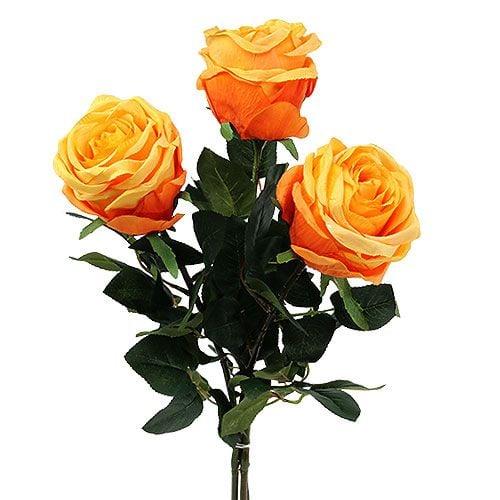 deko rose orange 8cm l68cm 3st kaufen in schweiz. Black Bedroom Furniture Sets. Home Design Ideas