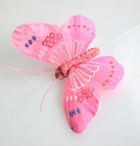 deko schmetterlinge am draht rosa t ne 8cm kaufen in schweiz. Black Bedroom Furniture Sets. Home Design Ideas