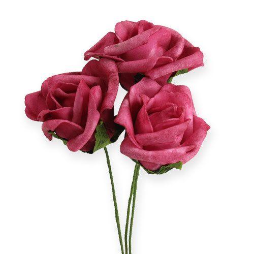 foam rose 4 5cm fuchsia 36st kaufen in schweiz. Black Bedroom Furniture Sets. Home Design Ideas