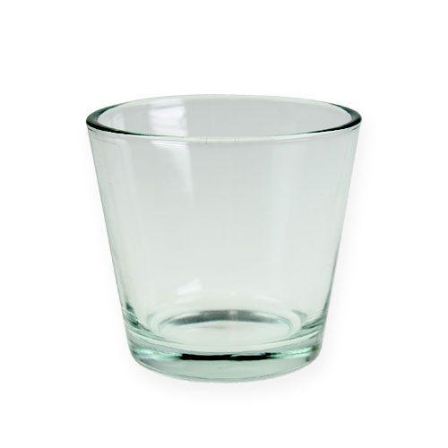 Glastopf 9cm klar 12st