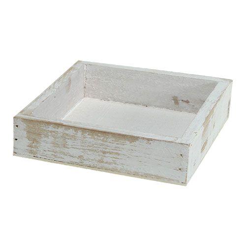 mini holztablett wei 12cm x 12cm x 3cm kaufen in schweiz. Black Bedroom Furniture Sets. Home Design Ideas