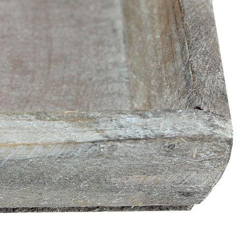 Holzschale Hellgrau 35cm x 11cm