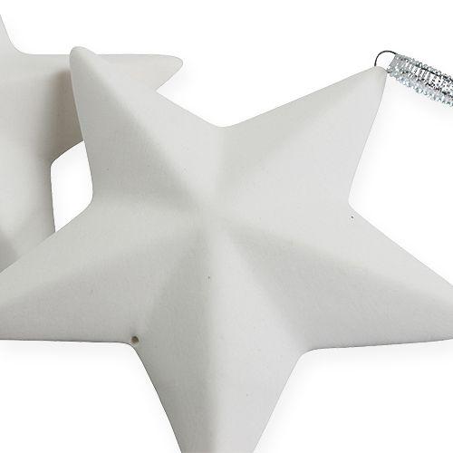 in 2 Größen Keramiksterne Sterne Dekofiguren Weihnachten Deko hellblau