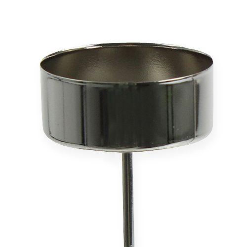 teelichthalter zum stecken silber 21cm kaufen in schweiz. Black Bedroom Furniture Sets. Home Design Ideas