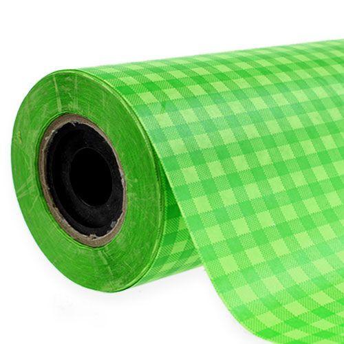 Manschettenpapier karo maigrün 25cm 100m