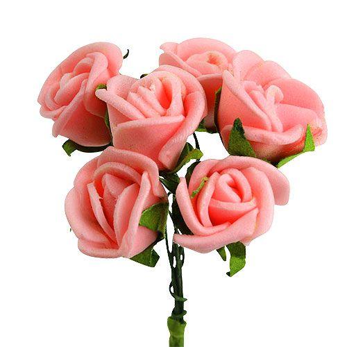 mini foamrosen 1 5cm rosa 72st kaufen in schweiz. Black Bedroom Furniture Sets. Home Design Ideas