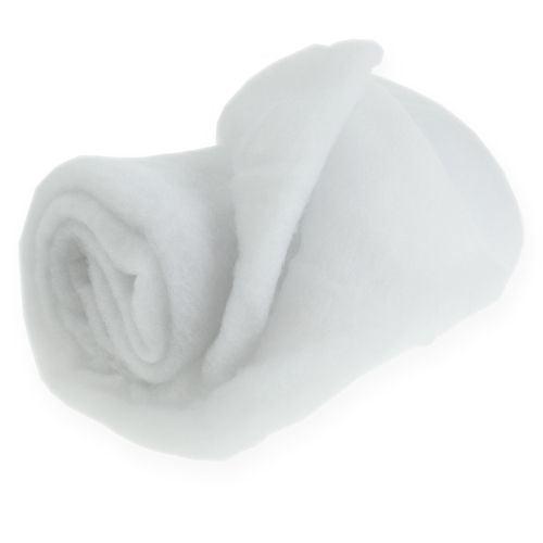 Schneedecke Deko Kunstschnee Matte Schneeteppich Weiß 200×50cm