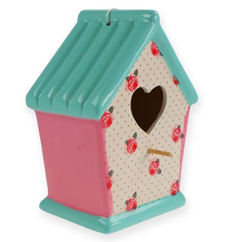 keramik vogelhaus zum h ngen bunt 19 5cm kaufen in schweiz. Black Bedroom Furniture Sets. Home Design Ideas