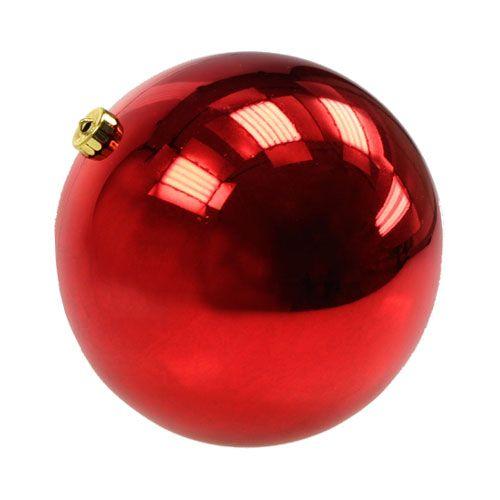 Große Rote Christbaumkugeln.Weihnachtskugel Mittel Kunststoff Rot 20cm