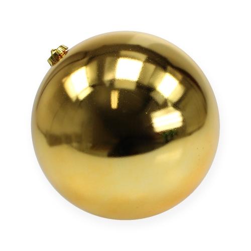weihnachtskugel gro gold 20cm plastik kaufen in schweiz. Black Bedroom Furniture Sets. Home Design Ideas