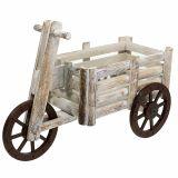 Dreirad zum Bepflanzen Weiß Holz H31,5cm