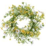 Blumenkranz mit Buschwindröschen Weiß, Gelb Ø30cm