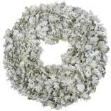 Kranz Eichenlaub Weiß gewaschen Ø38cm