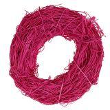 Kranz aus Rattan Ø20cm Pink 1St