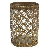 Windlicht Antik Gold Ø10,5cm H14,5cm 1St