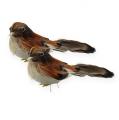Dekovögel 9cm am Draht 16St