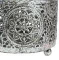 Teelichthalter für Tisch Silber Ø7,5cm H6cm 1St